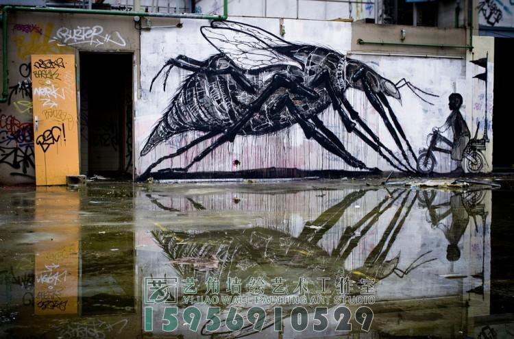 绘大师EMZA街头涂鸦作品